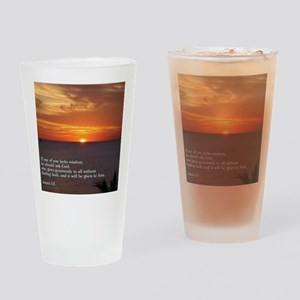 James 1-5  Sunset Drinking Glass