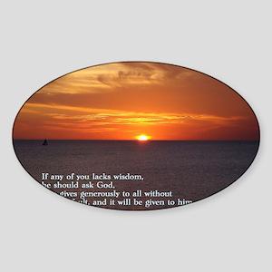 James 1-5  Sunset Sticker (Oval)