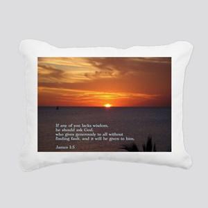 James 1-5  Sunset Rectangular Canvas Pillow