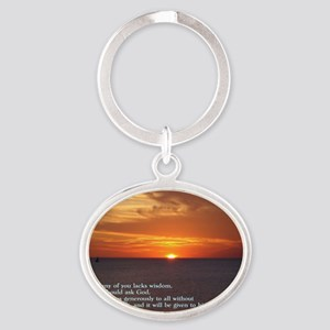 James 1-5  Sunset Oval Keychain
