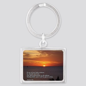 James 1-5  Sunset Landscape Keychain