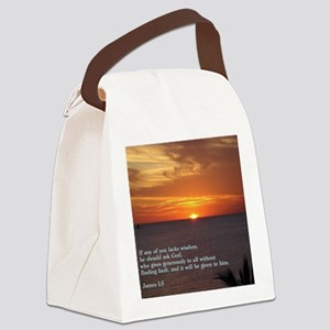 James 1-5  Sunset Canvas Lunch Bag