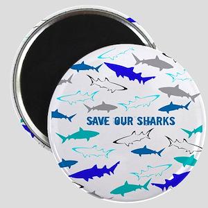 shark collage Magnet