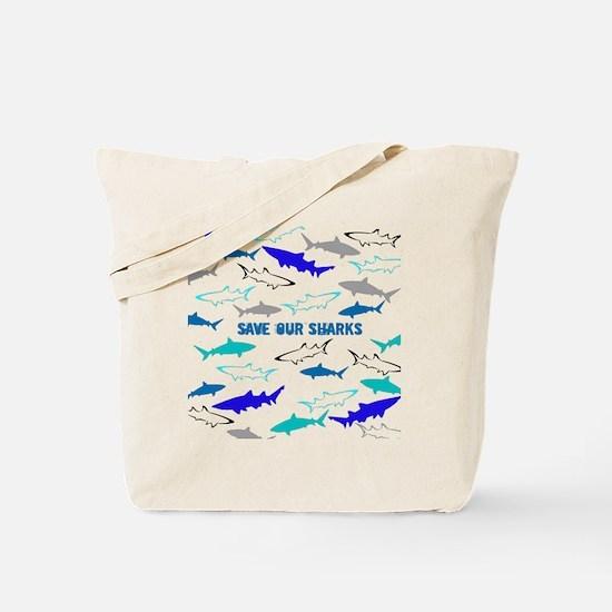 shark collage Tote Bag