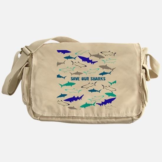 shark collage Messenger Bag