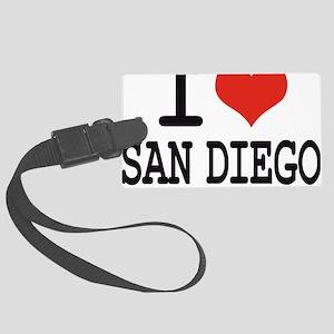 I LOVE SAN DIEGO Large Luggage Tag