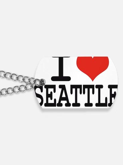 I LOVE SEATTLE Dog Tags