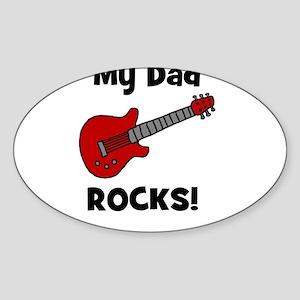 My Dad Rocks! (guitar) Oval Sticker