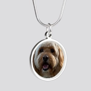 DeeJay Squ Silver Round Necklace