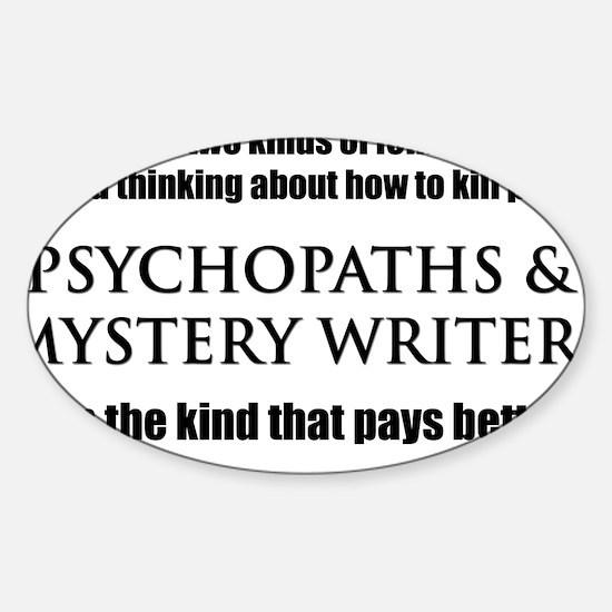 Mystery Writers Hat Sticker (Oval)