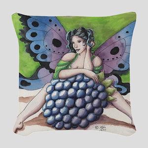 Blackberry Woven Throw Pillow