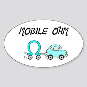 EE Plus ME Equals Moblie Ohms Oval Sticker