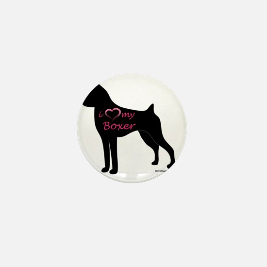 HeartMyBoxer Mini Button