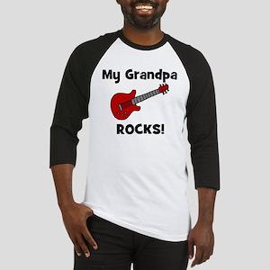 My Grandpa Rocks! (guitar) Baseball Jersey