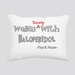 psych nurse walks with H Rectangular Canvas Pillow