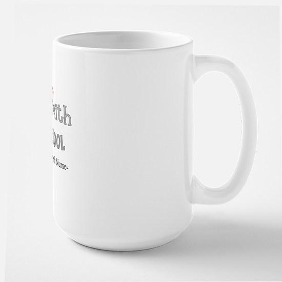 psych nurse walks with Haloperidol Large Mug