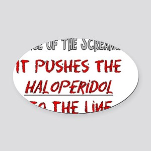 Silence of the screaming Oval Car Magnet
