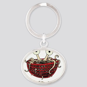 He-Boiled-Final-2000x2000 Oval Keychain