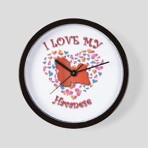 Love Havanese Wall Clock