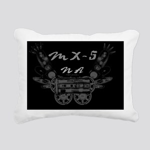 mx5 na dark Rectangular Canvas Pillow