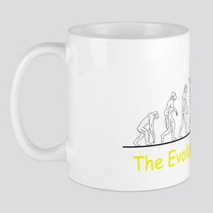 evolution of man superhero finished tra Mug