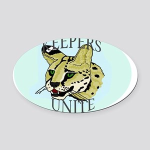 keepersuniteserval Oval Car Magnet