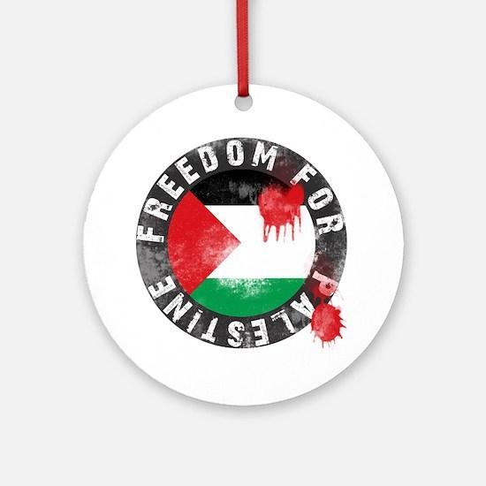 freedom for palestine Round Ornament