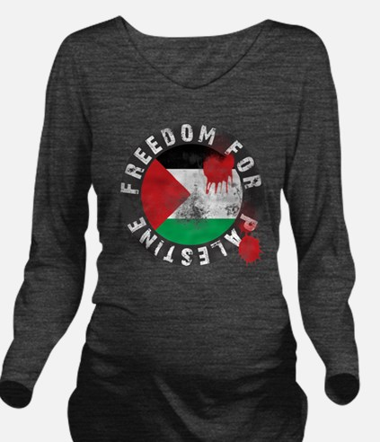 freedom for palestin Long Sleeve Maternity T-Shirt