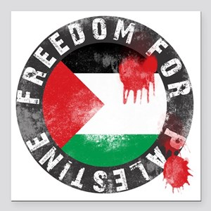 "freedom for palestine Square Car Magnet 3"" x 3"""