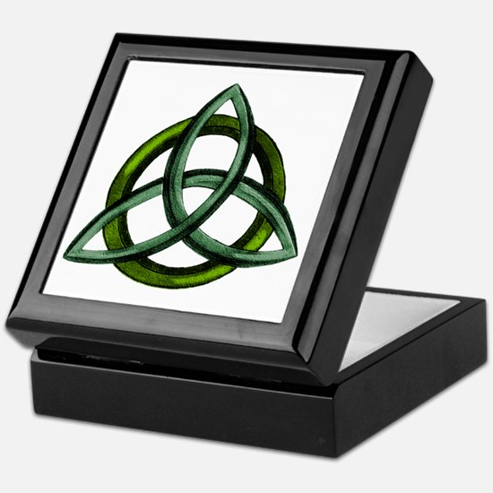 Triquetra Green Keepsake Box