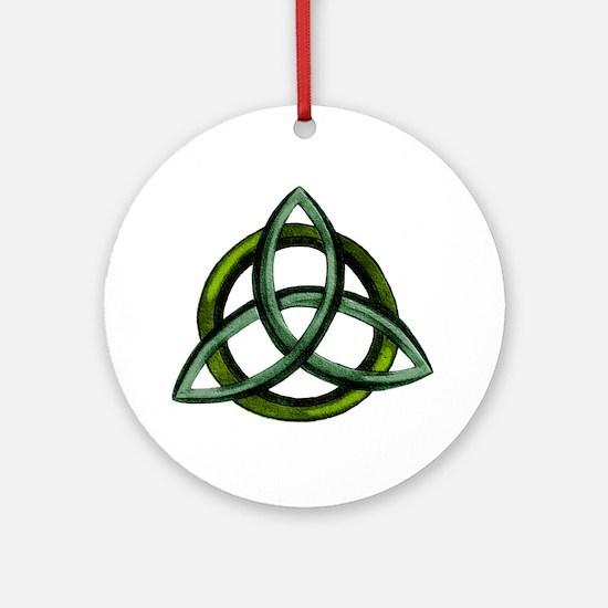 Triquetra Green Round Ornament
