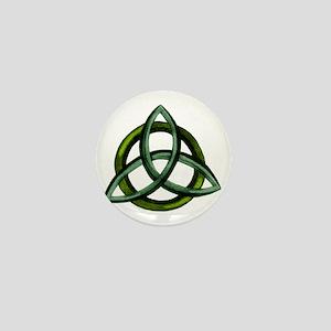 Triquetra Green Mini Button