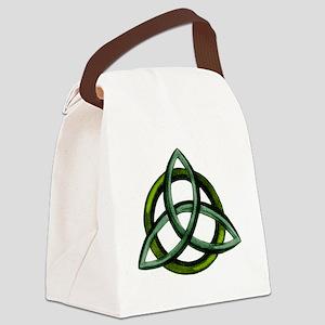 Triquetra Green Canvas Lunch Bag