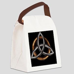 Triquetra Brown/Silver Canvas Lunch Bag
