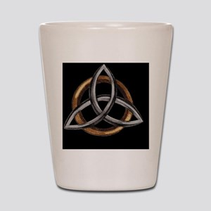 Triquetra Brown/Silver Shot Glass