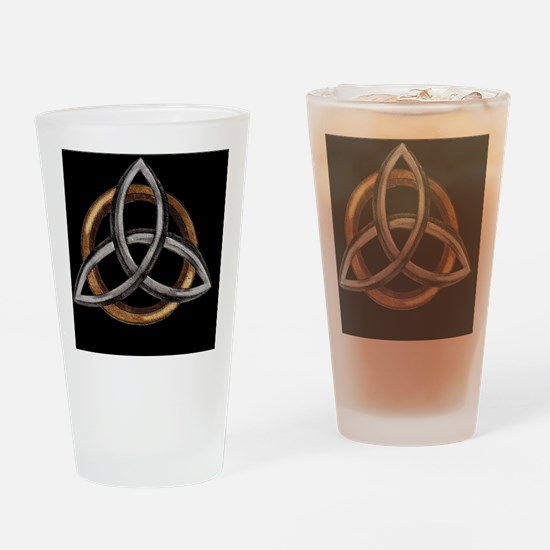 Triquetra Brown/Silver Drinking Glass