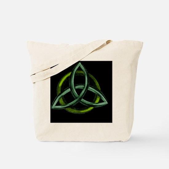 Triquetra Green Tote Bag