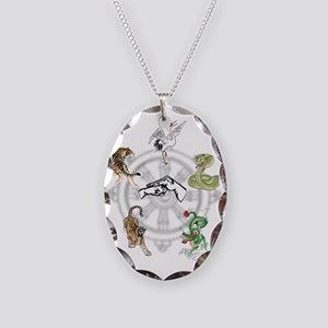 martial-five Necklace Oval Charm