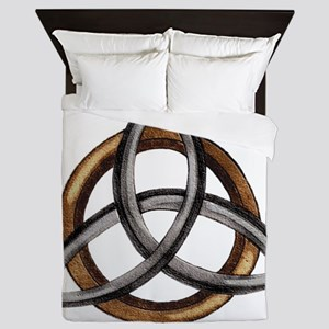 Triquetra Brown/Silver Queen Duvet