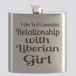 I Am In Relationship With Liberian Girl Flask