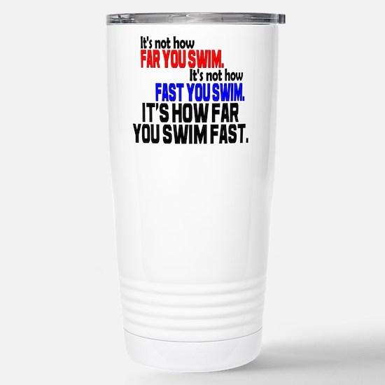 Swim Fast Stainless Steel Travel Mug