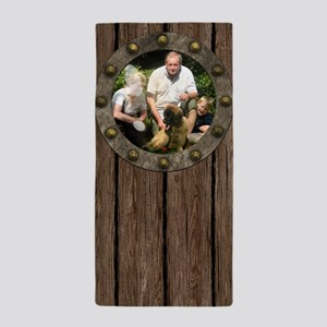 Customizable porthole framed photo Beach Towel