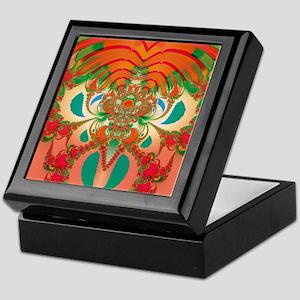 Abstract Art Red Owl Keepsake Box