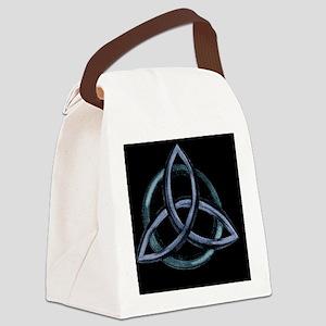 Triquetra Blue Canvas Lunch Bag