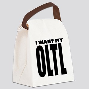 IWantMyOLTLBlackWShadowWhiteOutli Canvas Lunch Bag