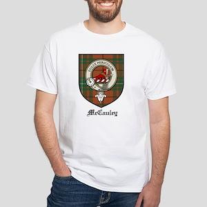 McCauley Clan Crest Tartan White T-Shirt
