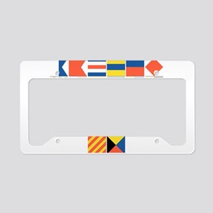 Nautical Flags License Plate Holder