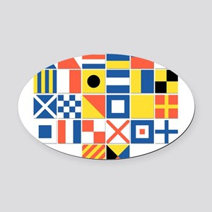 Nautical Flags Oval Car Magnet