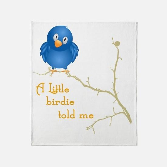 birdie_shirt_vertical copy Throw Blanket