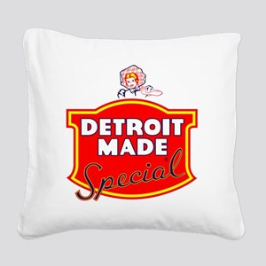 detroitMADE Square Canvas Pillow